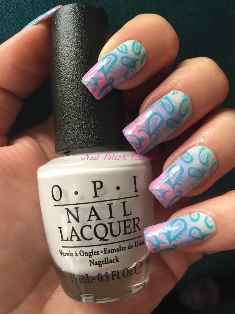 Paisley Gradient Manicure with OPI IMG_1870